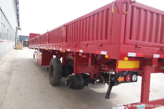 梁山盛源 13米 轻量化 栏板式运输半挂车 {自重5.5吨,包拉55吨}