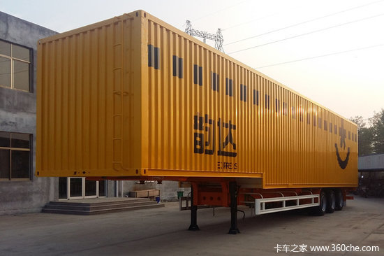 梁山长虹  轻量化  48英尺  (15米)  集装箱式骨架半挂车